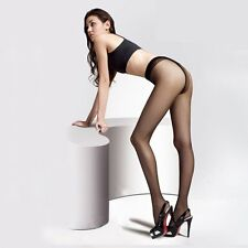 Women Sexy Silk Tights Stockings Lady Transparent Exotic Large Elastic Black