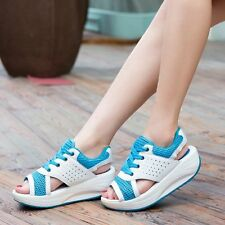 Women's Shoes Summer Wedges Sandals Fashion Lady Tennis Open Toe Slimming Woman
