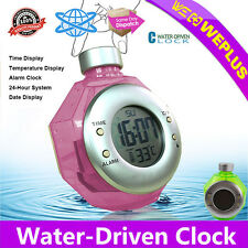 Water-Driven Clock Water Powered Digital LCD Alarm Eco-Friendly Energy Tool