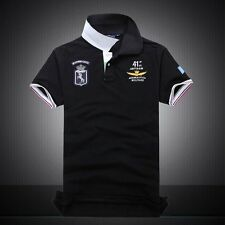 summer autumn new men's boutique embroidery 100% cotton polo shirt Men's
