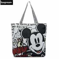 Minnie Mickey Winnie Printing Cartoon Stitch Canvas Totes souvenir Messenger