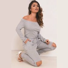 New Arrival Sexy Slash Neck Long Sleeve Hole Drawstring Rompers Womens Jumpsuits