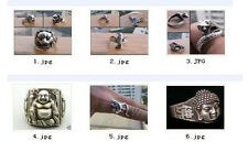 WHOLESALE WONDERFUL TRIBAL TIBET SILVER CARVED FASHION RING 6 STYLE 6281