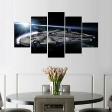 Framed Home Decor Canvas Print Painting Wall Art Star Wars Spacecraft Large