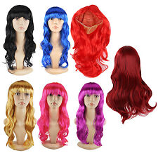 Women Lady Long Curly Wigs Cosplay Costume Ladies Wig HY