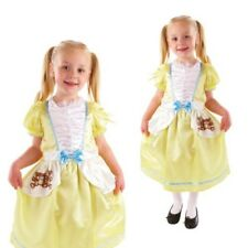 Girls Goldilocks Costume Kids World Book Day Party Outfit Fairytale Fancy Dress