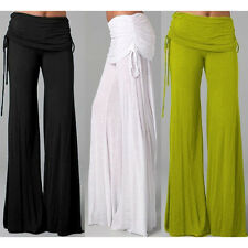 Casual Women High Waist Wide Yoga Gym Sport Pants Palazzo Flared Trouser