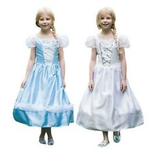Girls Childs Reversible Princess Bride Fancy Dress Costume Two In One Outfit