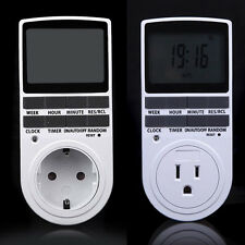Auto 12/24Hour Digital LCD Electronic Plug-in Timer Switch Socket Programmable @