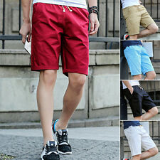 Sale! Summer Men Casual Short Pants Shorts Pockets Beach Half Trousers