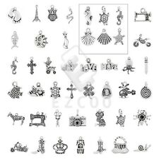 15-150pcs Antique Tibetan Silver Spacer Pendant Jewelry Findings 40 Style CA
