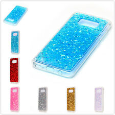 For Cell Phones Bling Glitter Sequin Clear TPU Rubber Soft Back Case Cover Skin