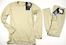 NEW POLARTEC GEN III ECWCS LEVEL 1 PANT & SHIRT TAN LARGE / LONG L-L