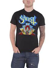 Ghost T Shirt Devil Stained Glass Window Band Logo Official Mens New Black