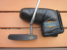 Scotty Cameron Black Newport 2 plus leather headcover 35-1/2 inches long