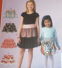 McCalls 7182 Pattern Girls Tiered Ruffled Skirts  SIZE CHOICE UNCUT