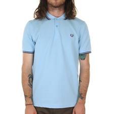 Fred Perry Twin Tipped Polo Shirt - Glacier