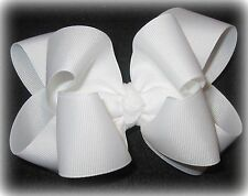 White Double Layer Hair Bow Baby Girls Toddler Headband