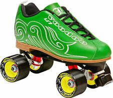 SALE! NEW! LABEDA VOODOO U7 GREEN QUAD SPEED ROLLER SKATES MENS sz 4-10 $250 val