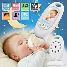 Video Wireless Baby Monitor Night Color 2 Inch Camera Vision IR LED Temperature