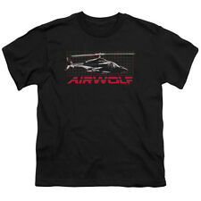 Airwolf TV Show Helicopter on GRID Licensed  Youth T-Shirt S-XL