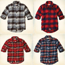 NWT Hollister By Abercrombie Broad Beach Flannel Shirt, men shirt