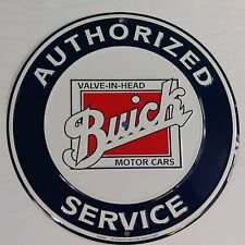 """FREE 19"""" Double Neon Clock with BUICK Motor Cars Authorized Service Tin Sign"""