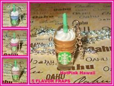 5 Starbucks Frappuccino Coffee Blended Smoothie Silver Plated Necklaces USA MADE