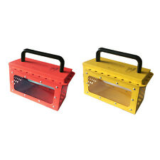 ASG Industrial Safety Visible Group Lockout Box with 20 padlock eyelets