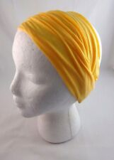 Wide headband solid colors jersey fabric tapered elastic back stretch Charlotte