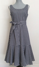 J. Crew Gingham Ruffle-Hem Dress NWT Size: 0 6 8 14