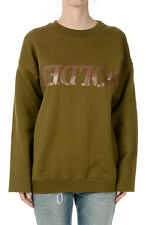 GOLDEN GOOSE DELUXE BRANd new Woman Military Green Sweatshirt Made ITALY
