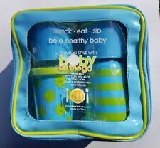 NEW Travel Infant Baby Feeding Set - Baby On The Go - Blue & Pink