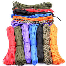 550 Paracord Parachute Cord Lanyard Mil Spec Type III 7 Strand Core 25-100 Feet