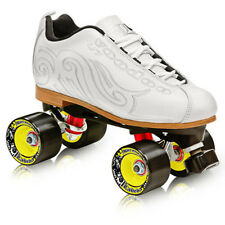 NEW! LABEDA VOODOO U7 WHITE QUAD ROLLER SKATES MENS sz 5/WOMEN'S 6 Blemish