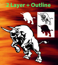 Bull #2 Animal Airbrush Stencil Spray Vision Template