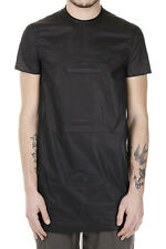 RICK OWENS New Men Black Embroidery TRIPLE STARE T-shirt Cotton  Made in ITALY
