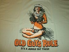 "OLD GUYS RULE "" IT'S A JUNGLE OUT THERE SURF SURFBOARD LONGBOARD FIN S/S"