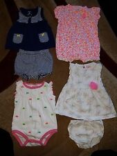 Baby Girl Summer Clothes Lot Size 3 Months Carters & Circo