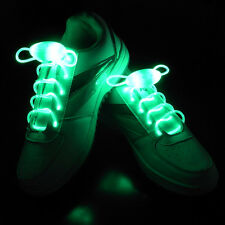Pair Shiny LED Shoelaces Flash Light Up Glow Stick Strap Shoelaces Disco Party