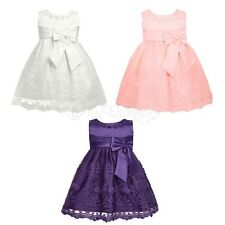 Flower Girl Princess Dress Baby Kids Party Wedding Lace Tutu Formal Gown Dress