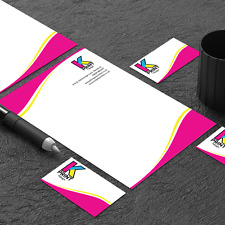 Letterheads - Full Colour Printed - A4 - 120gsm - Business letters - Bond