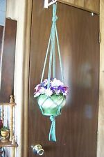 Macrame Basic Plant Hangers  6mm 4arms  CHOOSE A COLOR Handmade Made USA Fast sh