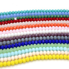 40pcs Crystal Glass Rondelle Faceted Loose Spacer Beads Wholesale  DIY 8mm