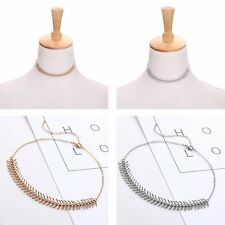 New Fashion Women Silver/Gold Plated Simple Metal Choker Necklace Jewelry Gift