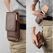 Vertical High Quality Luxury Leather Pouch For HTC Phone Holster Belt Clip Case