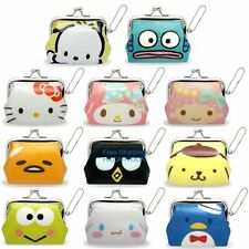 JAPAN SANRIO KITTY GUDETAMA CINNAMOROLL PVC COIN BAG PURSE SMALL COSMETIC BAG