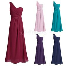 Women Long Evening Dress Bridesmaid Maxi Formal Party Dress Cocktail Prom Gown