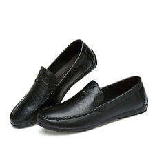 Mens Alligator Pattern Leather Casual Slip On Loafers Shoes Slip On Casual