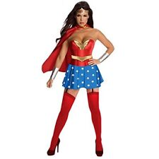 Wonder Woman 4 Pieces Adult Women's Costume for Halloween and Cosplay Party S-XL